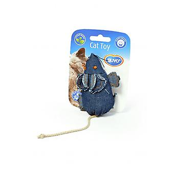 Duvo+ Denim Blue Cat toy Pad 10 x 6cm (Cats , Toys , Mice)
