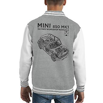 Haynes Workshop Manual Mini MkI Black Kid's Varsity Jacket