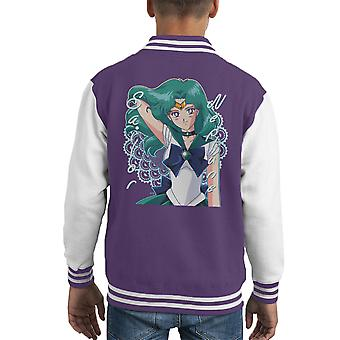 Sailor Moon Sailor Neptune Pattern Kid's Varsity Jacket