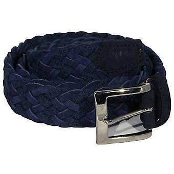 40 Colori Rope and Suede Leather Belt - Night Blue
