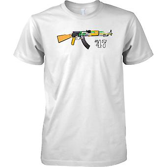 AK-47 Kalashnikov Assault Rifle Diagram Design - Mens T Shirt