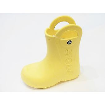 Crocs Croc Handle Yellow Pull On Welly