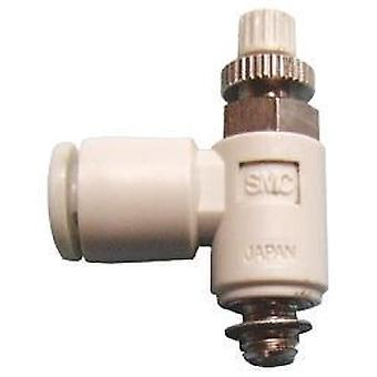 SMC As3201F-03-08S Speed Controller R 3/8 Male Inlet X R 3/8 Male Outlet X 8Mm