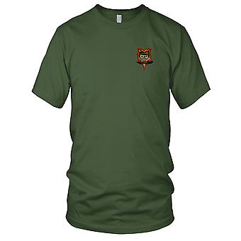 MACV-SOG Special Forces Group Pleiku - Vietnam War Unit Insignia Embroidered Patch - Mens T Shirt