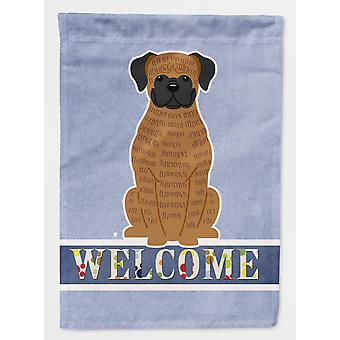Carolines Treasures  BB5698CHF Brindle Boxer Welcome Flag Canvas House Size