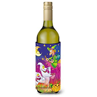 Witch and Ghosts Halloween Wine Bottle Beverage Insulator Hugger