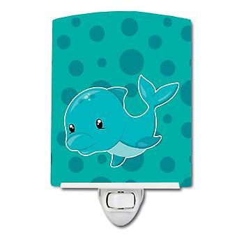 Carolines Schätze BB8898CNL nautische Dolphin Keramik Nachtlicht
