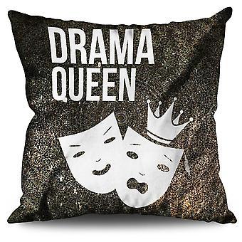 Drama Queen Cool Funny Linen Cushion Drama Queen Cool Funny | Wellcoda