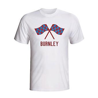 برنلي يلوحون بإعلام القميص (أبيض)