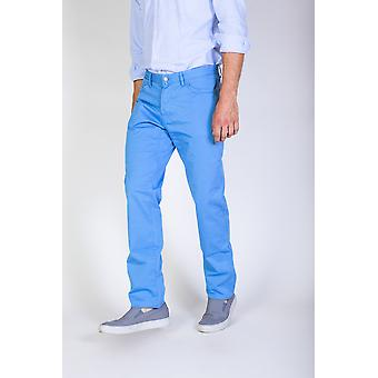 Jaggy Trousers Blue Men