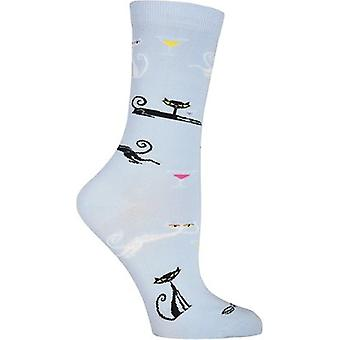 Shag Novelty Crew Socks-Cats SGWFH-7H012