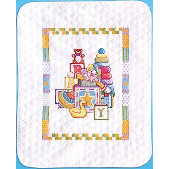 Toys Quilt Stamped Cross Stitch Kit-34