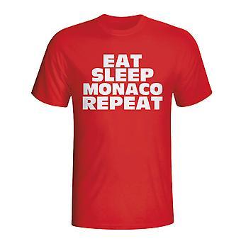 Spis Sleep Monaco gentage T-shirt (rød)