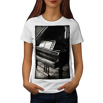Piano Photo Old Vintage Women WhiteT-shirt | Wellcoda