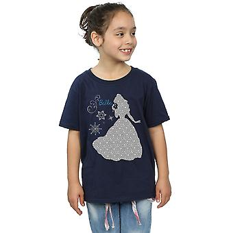 Disney Princess Girls Belle Christmas Silhouette T-Shirt