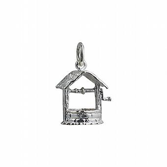 Silver 15x13mm Wishing Well Pendant or Charm