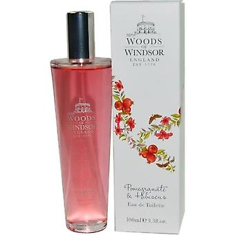 Woods Of Windsor Pomegranate & Hibiscus By Woods Of Windsor Edt Spray 3.3 Oz