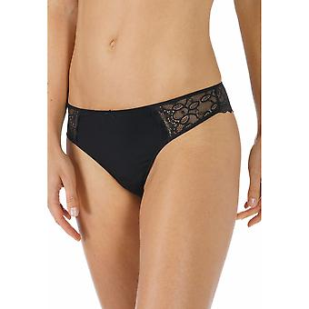 Mey 79800-3 Women's Allegra Black Solid Colour Panty Thong
