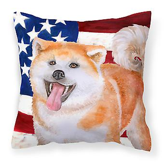 Carolines Treasures  BB9703PW1818 Akita Patriotic Fabric Decorative Pillow