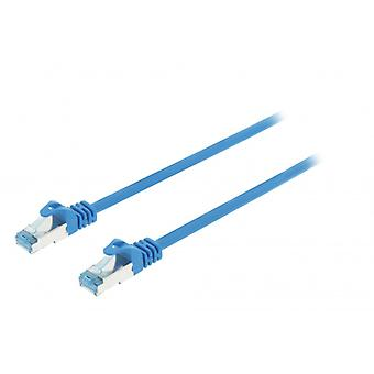 ValueLine CAT6a S/FTP network cable RJ45 (8P8C) male to RJ45 (8P8C) Male 0.50 m blue
