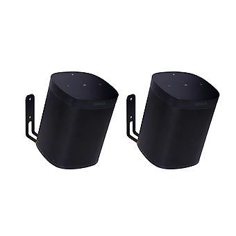 Vebos 壁マウント Sonos 1 つ黒 20 度設定