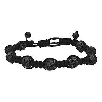 DISCO BALL stainless steel bracelet - ALL BLACK