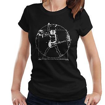 Vitruvian Man Guitar Player Women's T-Shirt