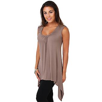 KRISP Relaxed Fit Hip Long Vest Tunic Top