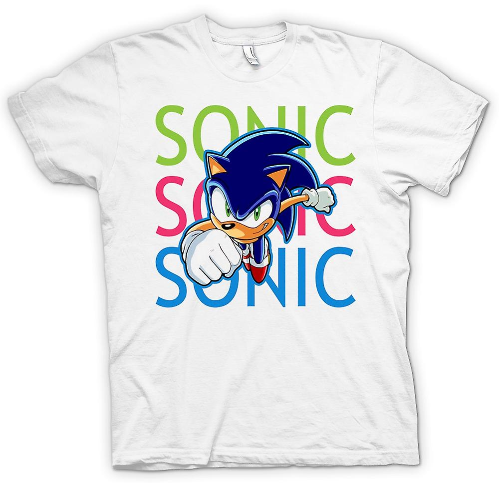 Mens t-skjorte-Sonic The Hedgehog - spiller