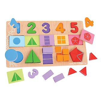 Bigjigs Toys MY First Wooden Educational Fractions Puzzle Game