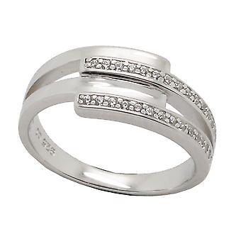 Orphelia Silver 925 Ring Lines  Zirconium   ZR-6089