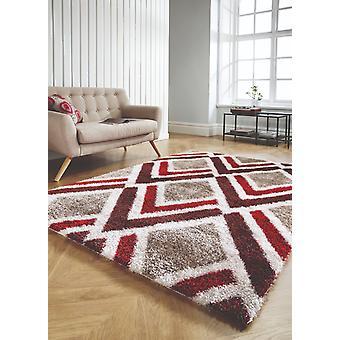 Sammet Bijoux röd brun rektangel mattor moderna mattor