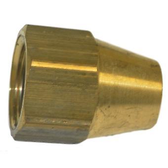 Big A Service Line 3-14106 Brass Long Nut 3/8
