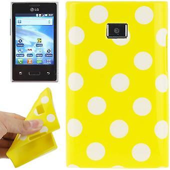 Pontos TPU casos protetoras do caso para celular LG Optimus L3 / E400