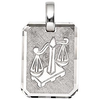 Przyczepa zodiaku równowagi 925 sterling silver rod galwanicznie częściowo matowe