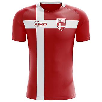 2018-2019 Denmark Flag Concept Football Shirt