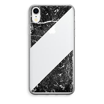iPhone XR Transparant Case - Black marble