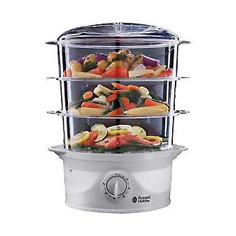 Russell Hobbs 21140 kompakte 3-Tier-Turbo-Design 9 Liter 800 Watt Food Steamer