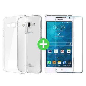Zeug zertifiziert® Samsung Galaxy A7 transparenten TPU Case + Displayschutzfolie gehärtetes Glas