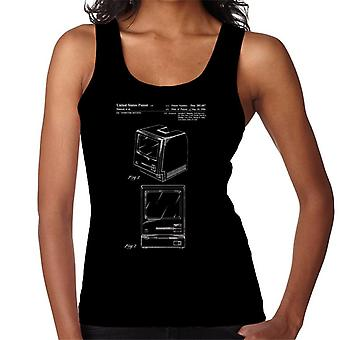 Apple Macintosh axonometrische Frontansichten Patent Blueprint Damen Weste
