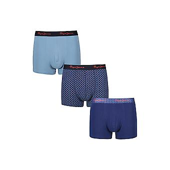 New Designer Mens Pepe Jeans Short Boxer Trunk Shorts Frank Gift Set