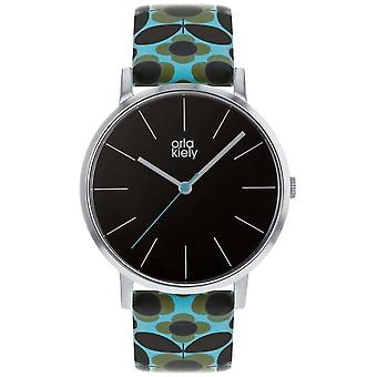 Orla Kiely | Ladies Patricia | Blue Flower Print Strap OK2269 Watch