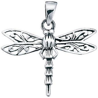 Beginnings Filigree Dragonfly Pendant - Silver