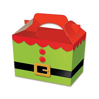 Single Elf Card Christmas Party Food or Treat Box | Christmas Party Treat Boxes