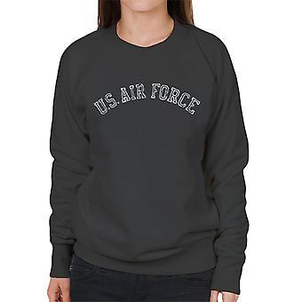 US Airforce Training White Text Distressed Women's Sweatshirt