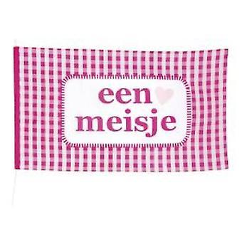 Polyester vlag 'een meisje' 90x15cm