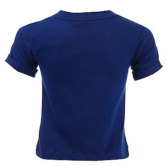 Baby jongens adidas Originals Eqt T-Shirt In Blue-Short Sleeve-Ribbed kraag-