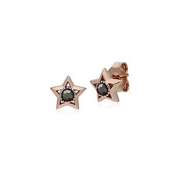 Gemondo Rose Gold Plated Sterling Silver Star Marcasite Stud Earrings