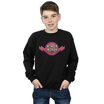 DC Comics Boys Wonder Woman Rainbow Logo Sweatshirt
