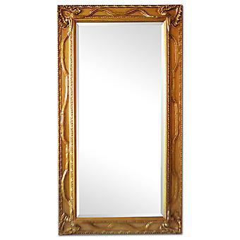Fantastisk speil i gull, dimensjoner 57 x 107 cm